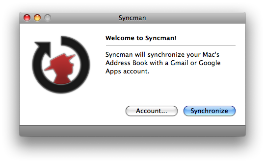 Syncman's Main Window